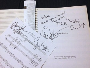 Hilary Hahn signed the scores I made for her